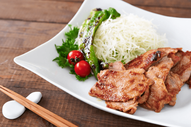 A plate of delicious pork
