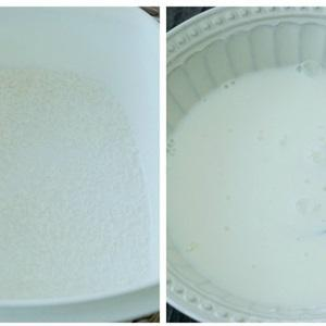 mix 150 milliliters of fresh milk and 40 grams of cornstarch together