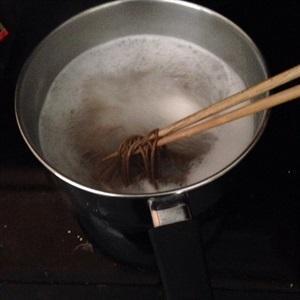 Cook soba noodle