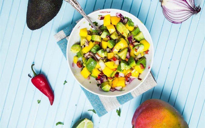 Avocado Mango Salad – A Mild Sweet And Sour Taste