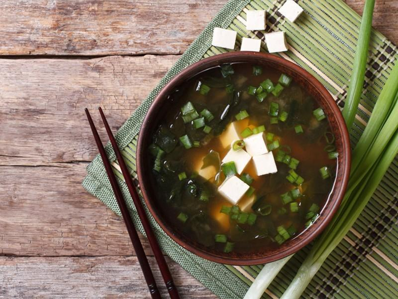 Japanese Seaweed Soup With Miso Broth