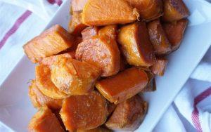 baked sweet potato with brown sugar