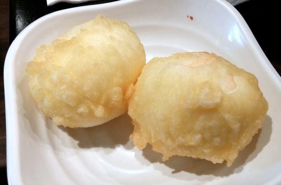 finished egg tempura