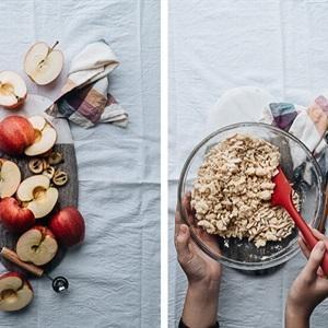 Prepare mixture of almond