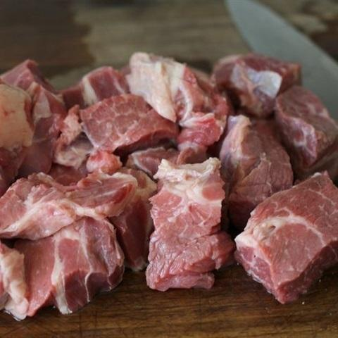wash beef and cut it into medium pieces