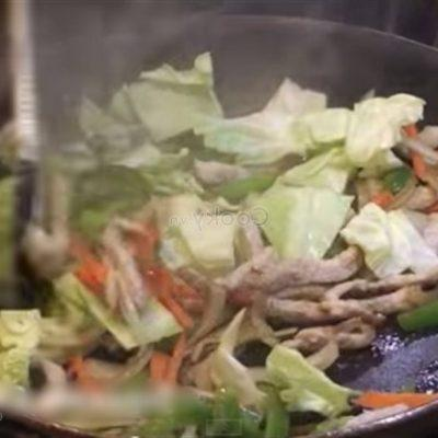 add other ingredients to stir-fry