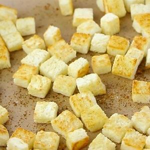 fry the pieces of sandwich bread