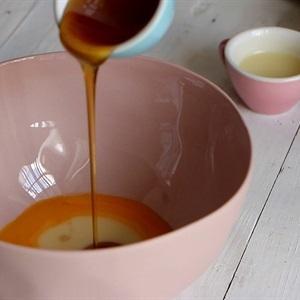 then, pour honey