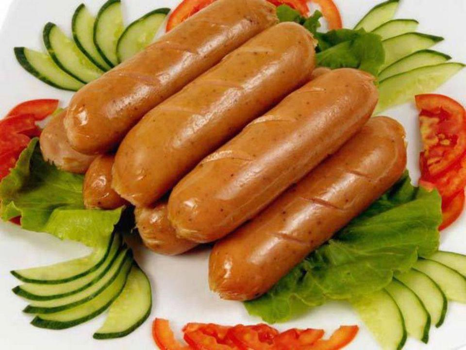 Then we have cooked sausages which are very cheap and delicious