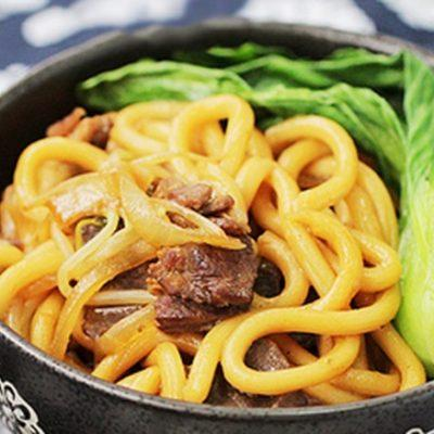 beef stir-fry with noodles