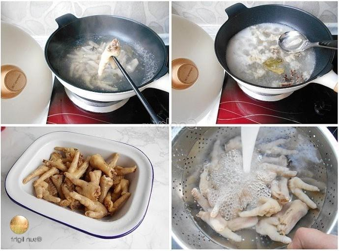 cook the chicken feet