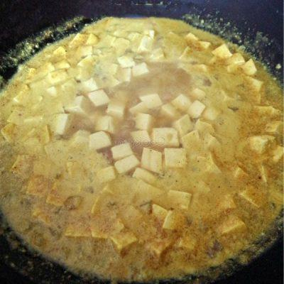 add tofu and other ingredients