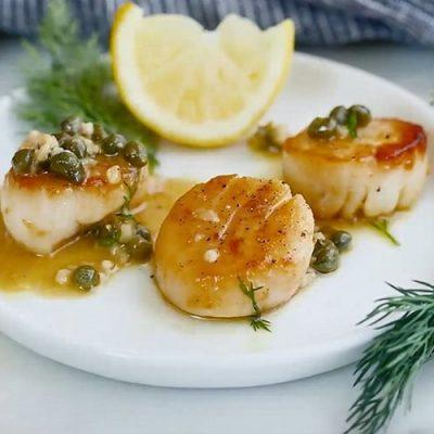 how to cook scallop with lemon sauce