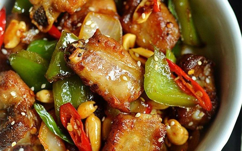 How To Cook Pork Ribs: Pork Ribs Stir-fry With Bell Peppers