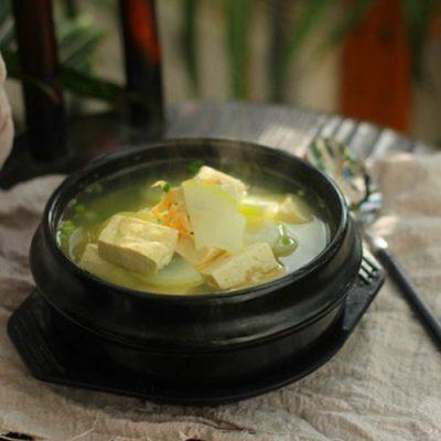 how to cook white radish and tofu soup