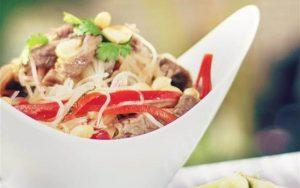 how to make Thai beef-mixed vermicelli