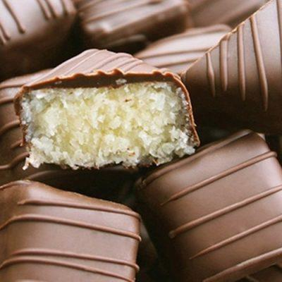 how to make coconut filled chocolate truffles