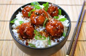 meatballs with teriyaki sauce