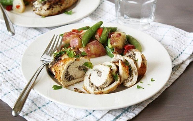 Mushroom Stuffed Chicken Breast