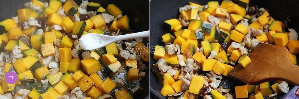 stir-fry vegetables and pork
