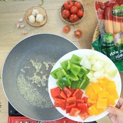 stir-fry bell peppers