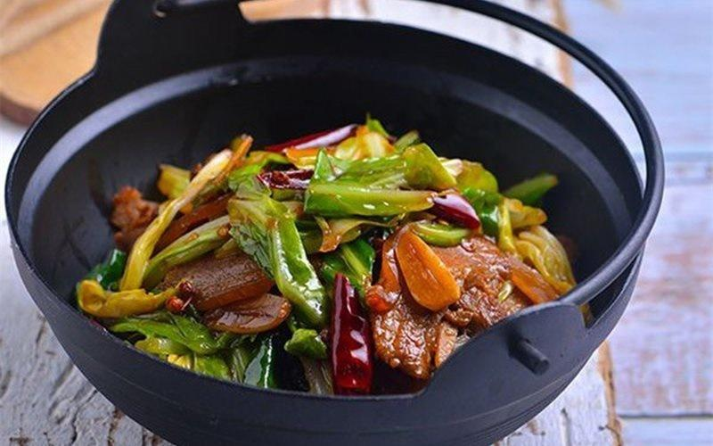 Fried Cabbage with Bacon And Chilis Recipe