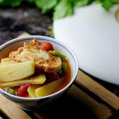 how to cook tofu with tomato and potato