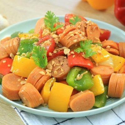 stir-fried sausage with vegetable recipe