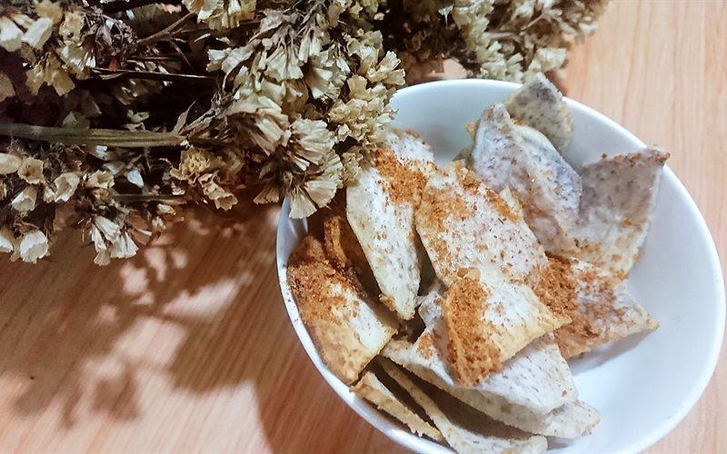 Crispy Baked Taro Snack Recipe