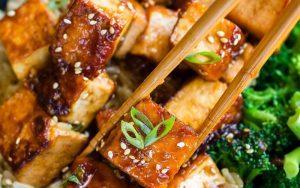 tofu with garlic and honey sauce