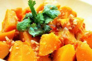 How to make pumpkin stir-fried with garlic