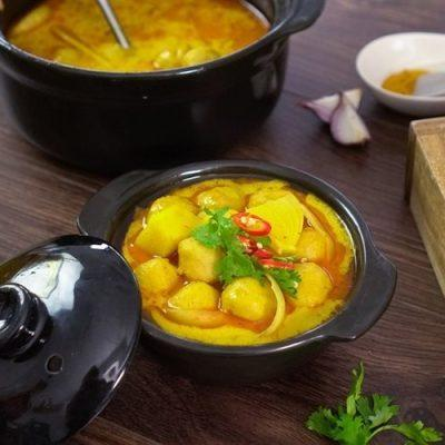 how to make curry fish balls