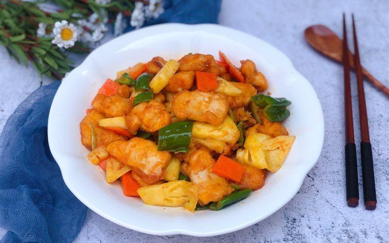 Sweet and Sour Stir-fried Chicken Recipe