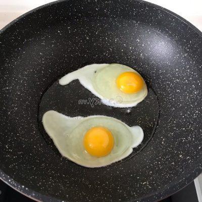 fry chicken egg