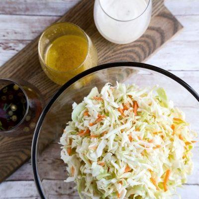 place cabbage and carrot pieces into a bowl