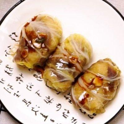 beef rolls with cabbage