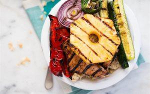 how to make rice with grilled chicken and vegetables