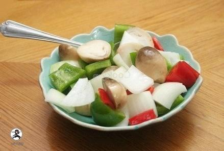 mix vegetables with olive oil