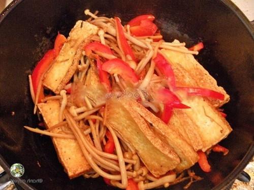 add tofu and bell pepper