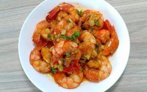 how to make spicy and sweet shrimps