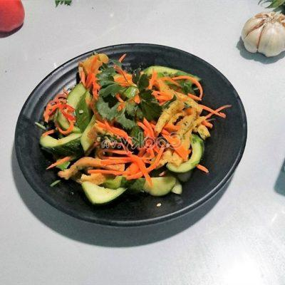 how to make cucumber salad with chicken egg