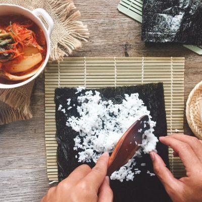spread a seaweed wrap