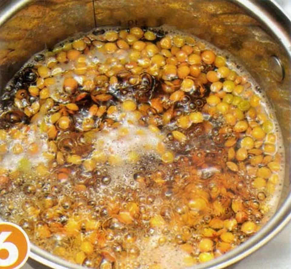 fry lentils