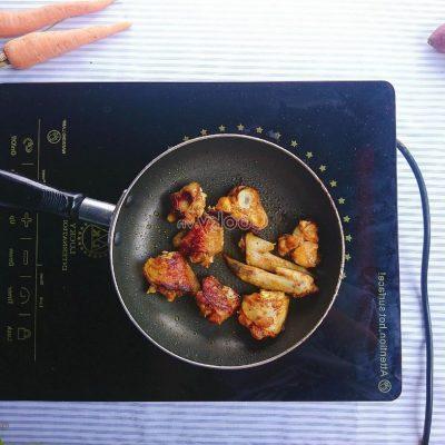 fry duck meat