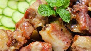 how to make pork ribs simmered with coconut milk