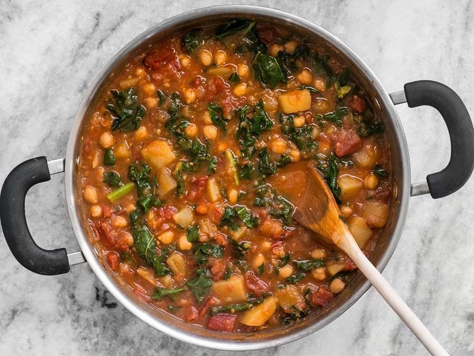 add kale and stir them gently