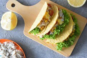 fish and egg tacos