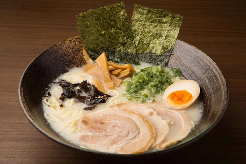 Tonkotsu with rich milky-white broth